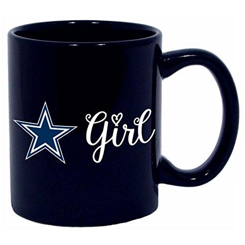 The Memory Company Dallas Cowboys Girl 11oz (Dallas Cowboys Black Coffee Mug)
