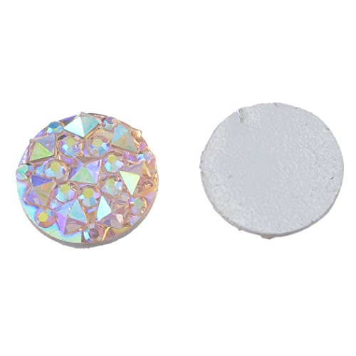Souarts Champagne Resin Cell Phone Case Flatback Scrapbooking Dome Cabochons for Frame Setting 10mm Pack of 100pcs by Souarts (Image #1)