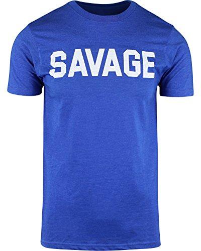 Mens Savage Shirts Hip Hop Culture Urban Apparel (Shirt Royal Heather, 3XL)