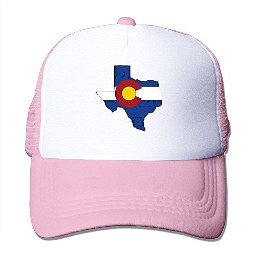 SFT Unisex Flag Map of Colorado Trucker Baseball Mesh Cap Adjustable Hat