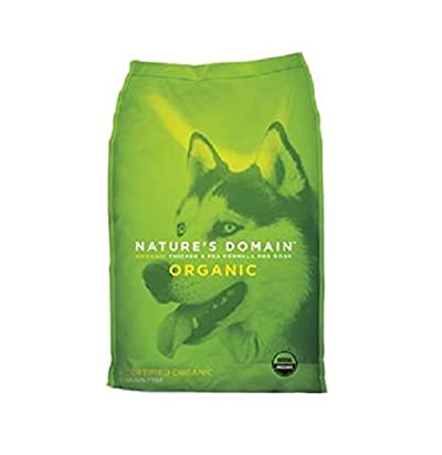 Kirkland Signature Nature's Domain USDA Organic Chicken & Pea Formula Dry Dog Food 30lb Bag