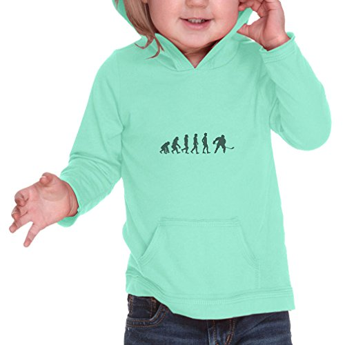 Cute Rascals Evolution of Ice Hockey Infants Jersey Raw Edge Hoodie Ice Green 6 - Hockey Jersey Evolution