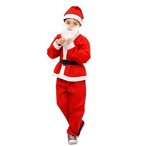 Garne-T Christmas Costumes Kids for Boys Dress Santa Claus Suit Cloth Outfit 6-9 ages (Dress Kids Garnet)