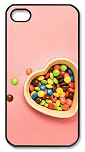 iphone 4 case customized Sweet candy PC Black for Apple iPhone 4/4S