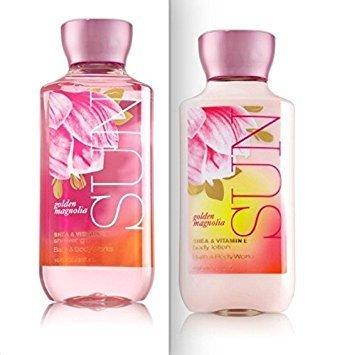 Bath & Body Works Golden Magnolia SUN Body Lotion & Shower Gel -