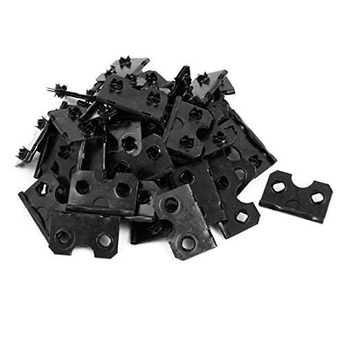 uxcell 38mmx24mmx9mm Half Open Picture Frame Back Hinge Backplane Buckle Black 50pcs