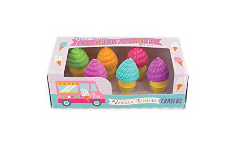 Popsicle Eraser - OOLY, Petite Sweets Ice Creams Shoppe Scented Erasers, Set of 6 (112-061)