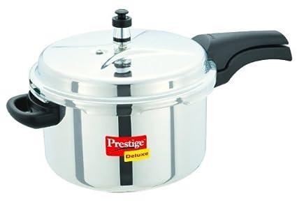 Prestige Deluxe Stainless Steel Cooker, 6.5 Litres