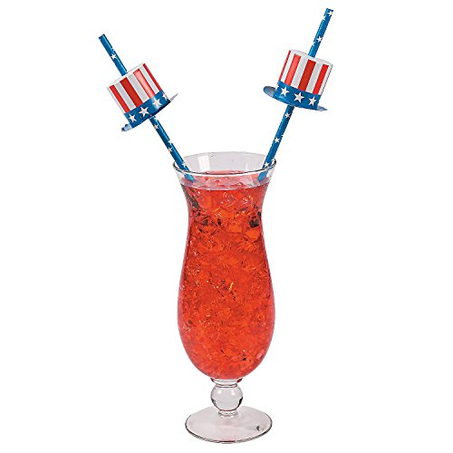 Fun Express Patriotic Paper Straws