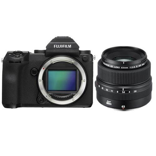 Fujifilm GFX 50S 51.4MP Medium Format Mirrorless Camera (Body Only) with Electronic Viewfinder, Full HD 1080p Video FUJINON GF 63mm F|2.8 R WR Lens