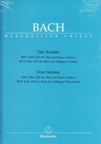 Bach: Four Flute Sonatas, BWV 1030, 1032, 1034, 1035 (Bach-shops)