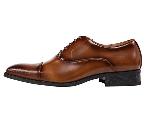 Amali Smooth Oxford with Houndstooth Laser Embossed Cap Toe Dress Shoe Style Conrad Brown best sale online jORmnN0