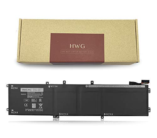 HWG 4GVGH Battery (6-Cells) Compatible Precision 5510, XPS 15 9550 Series, Fits P/N 4GVGH 1P6KD (11.4V 84Wh)