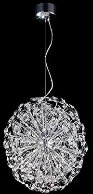 Contempo Collection Modern Chandelier for Living Room Dining Room – 12x K9 Crystal G9 LED/HALOGEN Bulb -Ceiling Lighting Fixture Pendant Chandelier