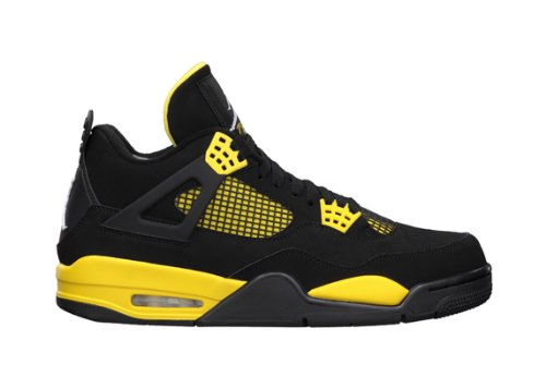 Air Jordan 4 Retro (Thunder) Black/White-Tour Yellow (10)