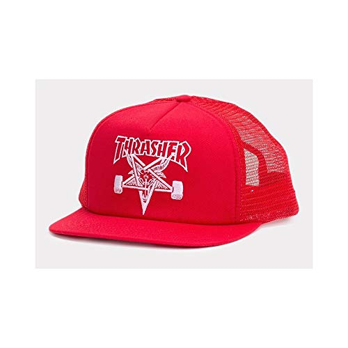 Thrasher Skate Goat Snapback Red Trucker (Thrasher Tattoo)