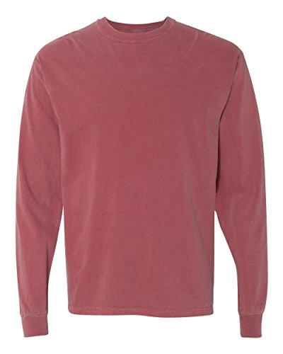 Comfort Colors Ringspun Garment-Dyed Long-Sleeve T-Shirt, Medium, BRICK