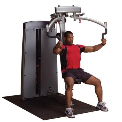 Body Solid DPECSF ProClub Line Pro Dual Pec/Rear Delt Machine with 360-Degree Rotating Handles and Gas-Assisted