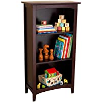 Toy / Game Kidkraft® Avalon 3 - Shelf Bookcase - Espresso With Curved Arch Design - Perfect For Displaying