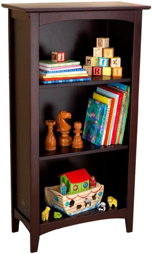 Toy / Game Kidkraft® Avalon 3 - Shelf Bookcase - Espresso With Curved Arch Design - Perfect For Displaying -  4KIDS, 4KIDS_37239