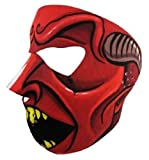 Red Black Speed Demon Devil Full Face Neoprene Mask Ski Biker Costume Paintball