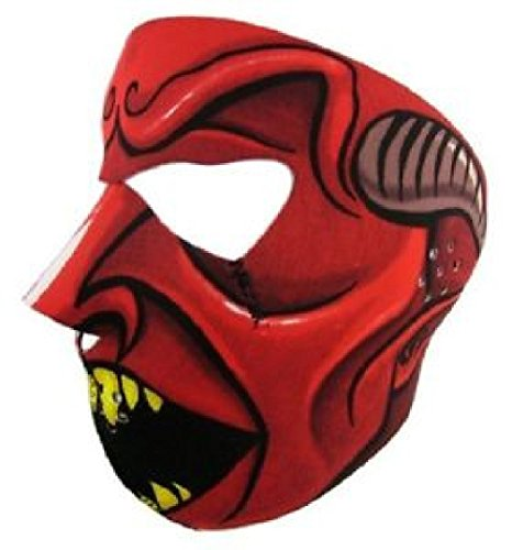 Red Black Speed Demon Devil Full Face Neoprene Mask Ski Biker Costume Paintball by ZIZI SPORTS SUPPLY