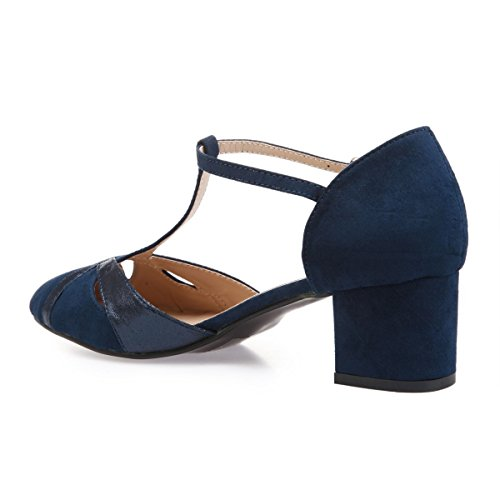 Modeuse Vestir Zapatos Mujer La De Material Sintético Azul 44792 fpxdqRwqaB