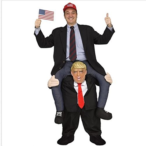 Adult Stuffed Carry On Donald Trump Fancy Dress Costume ()