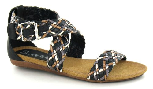 Spot On , Damen Sandalen Schwarz