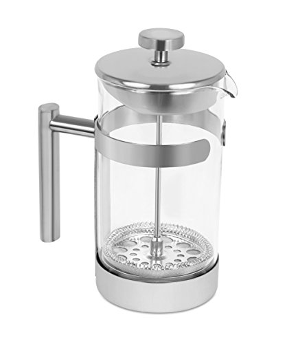 Internet's Best Stainless Steel French Press | 34 Oz | Coffee Maker Glass Body
