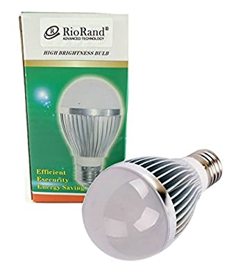RioRand E27 5w 12v Energy Saving High,Power Bright White LED Light Lamp Bulb(6 PCS)