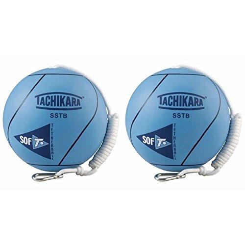Tachikara SSTB Sof-T Rubber Tetherball (Blue) - 2 Pack by Tachikara