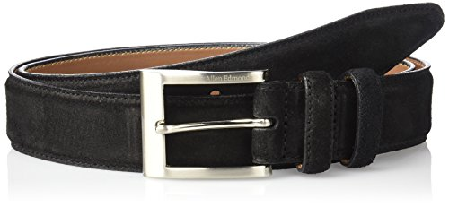 Allen Edmonds Men's Wide Basic Dress Belt, Black Suede, 38