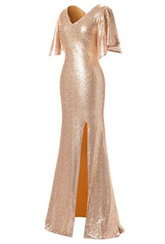 JYDress - Vestido - trapecio - para mujer La Luz De Oro