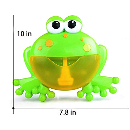 PBOX Frog Baby Bath Toy,Bubble Toy Musical Toy Bubble Maker with Nursery Rhyme Bathtub Bubble Toys for Infant Baby Children Kids Happy Tub Time,Bubble Machine for Boys and Girls Aged 1 2 3 4 (A) by PBOX (Image #4)