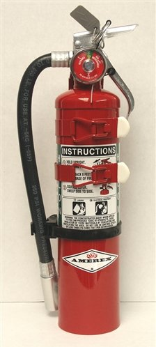 - Amerex C354TS, 3lb Halon 1211 Class B C Fire Extinguisher, with Aircraft Bracket