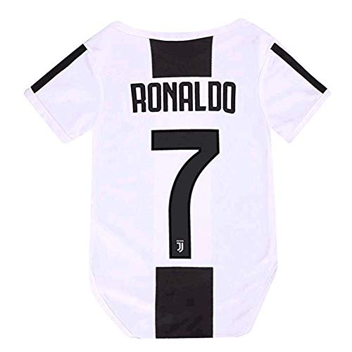 STER-TSP Juventus Home #7 Ronaldo Baby Suit Soccer Bodysuit Infant & Toddler Onesie White (Red 9-18 Monthes Baby)