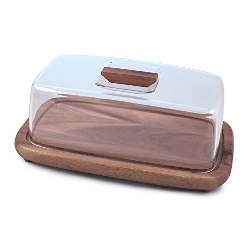 Swissmar Acacia Serving Board with Rectangle Cover