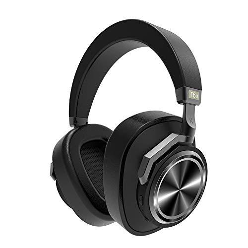 Cetengkeji ワイヤレスBluetoothヘッドフォンアクティブノイズキャンセリングボイスコントロール付き電話用ヘッドセット (Color : Black) B07R5JS7QB