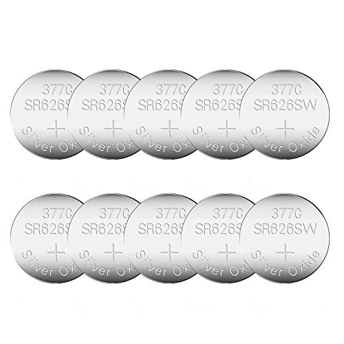 10 Pack CELEWELL SR626SW 377 AG4 LR626 Watch Battery with 3 Years Warranty 1.55V 20% Silver Oxide Button Cell for Calculator Toy Children Book