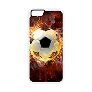 "Personalized New Print Case for Iphone6 4.7"", Fire Soccer Ball Phone Case - HL-R661397"