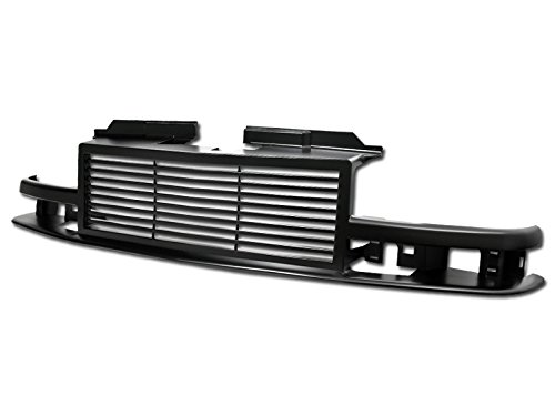 - R&L Racing Matte Black Front Grill Horizontal Style Hood Bumper Grille Cover 1998-2004 for Chevy S10 Blazer / S10 Pickup Truck, MPN: GM1200419, GM1200418, GM1200397