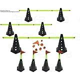 Kit com 8 Cones Furado C/Barreira Funcional Black Agilidade