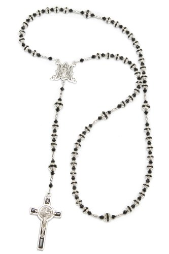 Jet Black Crystal Necklace - 8