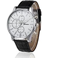 Becoler Retro Design Leather Band Wrist Watch for Mens