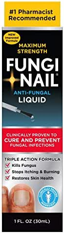 Fungi-Nail Anti-Fungal Solution, 1 Ounce - Kills Fungus That Can Lead To Nail Fungus & Athlete's Foot w/Tolnaftate & Clinically Proven to Cure Fungal Infections