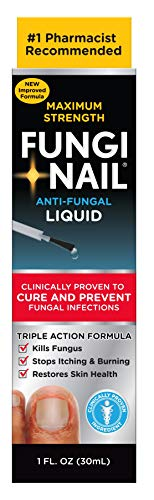 Fungi-Nail Anti-Fungal Solution, 1 Ounce - Kills Fungus That Can Lead To Nail Fungus & Athlete's Foot w/ Tolnaftate & Clinically Proven to Cure Fungal Infections