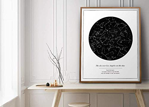 Custom Star Map Print Gift - unframed print