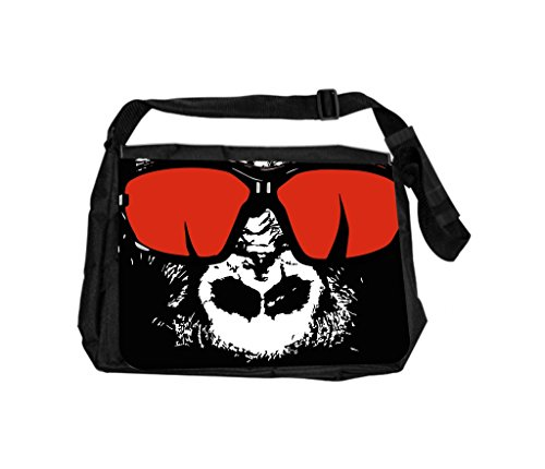 Gorilla In Red Shades Rosie Parker Inc. TM Laptop Messenger Bag and Small Case for Wire Accessories - Rosie Sunglasses