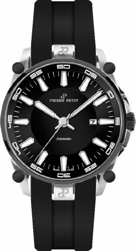 Pierre Petit P-818A - Men's Watch, Silicon, Black Color